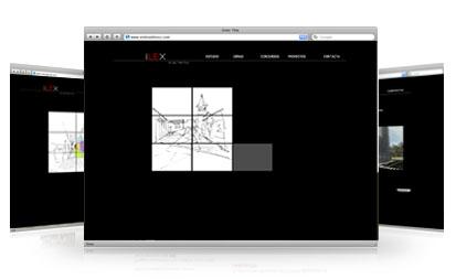 tres instantneas de la web de ilex arquitectos
